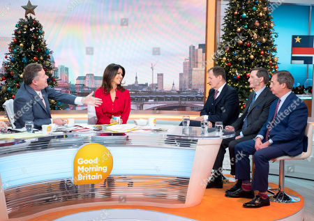 Stock Picture of Alastair Campbell, Dominic Grieve and Nigel Farage with Piers Morgan and Susanna Reid
