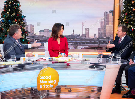 Stock Image of Piers Morgan and Susanna Reid with Alastair Campbell