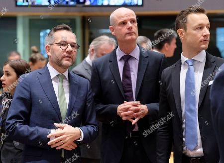 (L-R) German Minister of State for European Affairs Michael Roth, Dutch Minister of Foreign Affairs Stef Blok, Austrian Minister in Charge of EU affairs Gernot Blumel during a European general affairs council in Brussels, Belgium, 11 December 2018. Reports state that the Council will focus on the proposal under Article7(1)TEU concerning the rule of law in Poland.