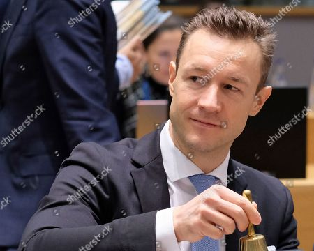 Austrian Minister in Charge of EU affairs Gernot Blumel during a European general affairs council in Brussels, Belgium, 11 December 2018. Reports state that the Council will focus on the proposal under Article7(1)TEU concerning the rule of law in Poland.