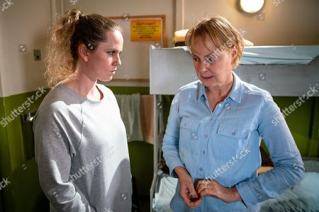 Ep 9668 Wednesday 16th January 2019 - 1st Ep  Sally Metcalfe, as played by Sally Dynevor, is horrified by the arrival of Marcia, as played by Victoria Moseley.