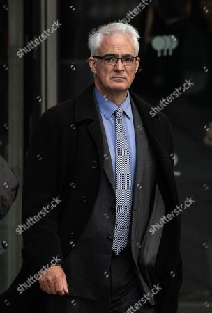 Labour MP Alistair Darling leaves the Park Plaza Hotel in London, where politicians were attending the 'Conservative Friends Of Israel' annual lunch.