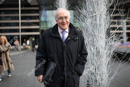 Lord Michael Howard leaves the Park Plaza Hotel in London, where politicians were attending the 'Conservative Friends Of Israel' annual lunch.