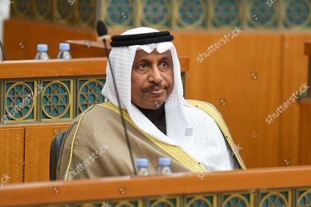 Kuwaiti Prime Minister Sheikh Jaber Al-Mubarak Al-Hamad Al-Sabah attends a parliament session at the Kuwait's national assembly in Kuwait City, Kuwait, 11 December 2018.