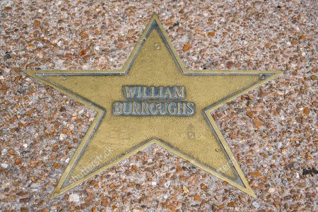 Star by author William Burroughs on the Walk of Fame, Delmar Boulevard, Delmar Loop, St. Louis, Missouri, USA