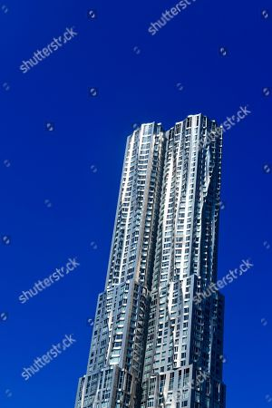 New York by Gehry, high-rise by architect Frank Gehry, 8 Spruce Street, Manhattan, New York, USA