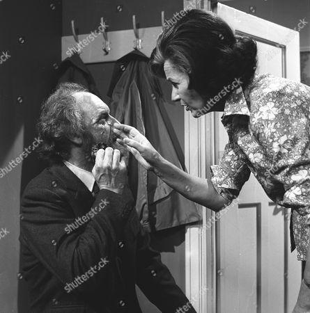 'The Ten Commandments'  TV - 1971 - Black Eye on Sunday - Graham Crowden as Professor David Cuthbertson and Judy Campbell as Gillian Cuthbertson.