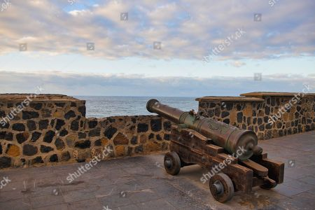 Cannon in Fort Bateria de Santa Barbara, Puerto de la Cruz, Tenerife, Canary Islands, Spain