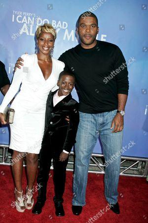 Mary J. Blige, Kwesi Boakye and Tyler Perry