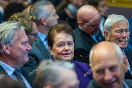 Norway's former PM Gro Harlem Brundtland listens to Al Gore, former vice president of the United States and the Nobel Peace Prize winner in 2007, as he speaks at the Nobel Peace Prize Forum in Oslo, Norway, 11 December 2018. The Forum 2018 invited scientists and climate experts for an international dialogue on 'How to Solve the Climate Crisis?'.