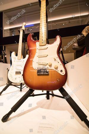 Peter Green/ Fleetwood Mac: A Dallas Tuxedo Electric Guitar Owned by Peter Green circa 1959. Estimate £10,000