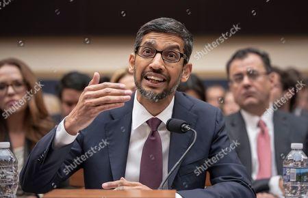 Google CEO Sundar Pichai testifies before Congress, Washington DC