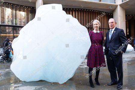 Justine Simons, Deputy Mayor for London and artist Olafur Eliasson and Michael Bloomberg UN Special Envoy for Climate Action and Founder of Bloomberg LP and Bloomberg Philanthropies launches Ice Watch display blocks of melting glacier ice across two public sites in the centre of London to create a major artwork.