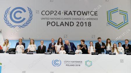 Minister of the Environment Henryk Kowalczyk, President of COP24, Deputy Minister of the Environment Michal Kurtyka, UNFCCC Executive Secretary Patricia Espinosa.