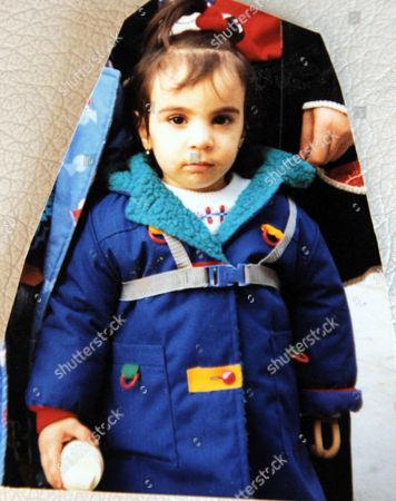 Riam Dean as a child