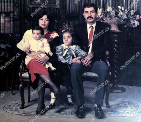 Riam Dean as a child with her family