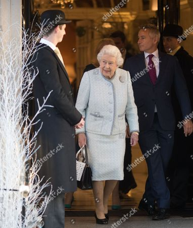Queen Elizabeth II staff christmas lunch, London