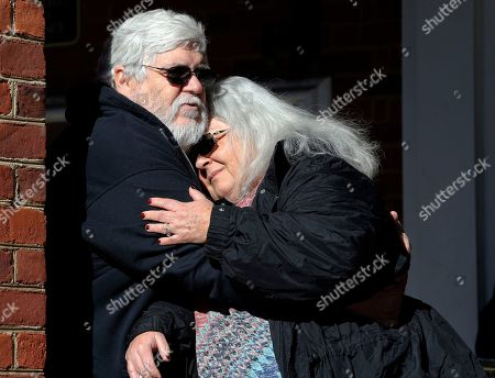 Susan Bro, Kent Bro. Susan Bro, mother of Heather Heyer, hugs her husband, Kent in front of Charlottesville Circuit Court after a jury recommended life plus 419 years for Alex James Fields Jr. for the death of Heyer as well as several other charges related to the White the Right rally in 2017 in Charlottesville, Va