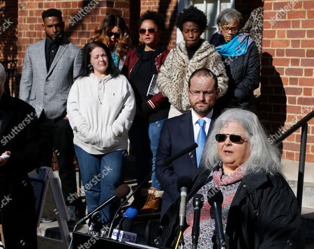 Susan Bro, Kent Bro. Susan Bro, mother of Heather Heyer, talks to the media in front of Charlottesville Circuit Court after a jury recommended life plus 419 years for Alex James Fields Jr. for the death of Heyer as well as several other charges related to the White the Right rally in 2017 in Charlottesville, Va., . Other victims of Fields attack are in the background