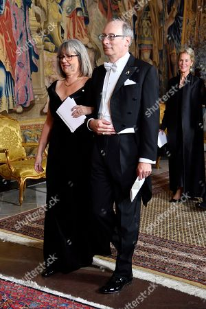 Stock Photo of Donna Strickland, Laureate in Physics 2018 with husband Douglas Dykaar