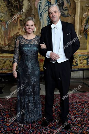 Magdalena Andersson, minister for finance with husband Richard Friberg