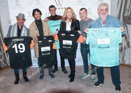 Pitingo, Miguel Abellan, Andoni Ferreno, Norma Duval, Richy Castellanos and Millan Salcedo