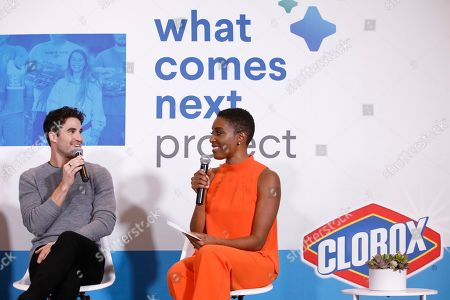 Award winning actor Darren Criss speaks with video blogger Franchesca Ramsey as they celebrate the power of clean to make a difference at the launch of the Clorox What Comes Next Project, in New York