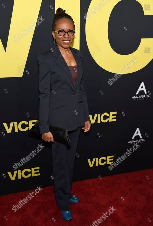 """LisaGay Hamilton arrives at the world premiere of """"Vice"""", at the Samuel Goldwyn Theater in Beverly Hills, Calif"""