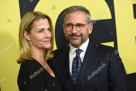 "Nancy Carell, Steve Carell. Nancy Carell, left, and Steve Carell arrive at the world premiere of ""Vice"", at the Samuel Goldwyn Theater in Beverly Hills, Calif"