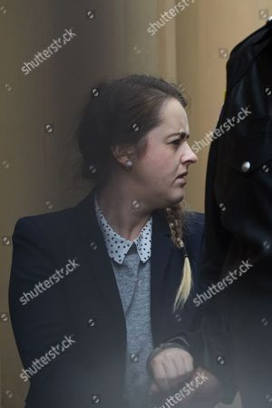 Stock Picture of Cathrina Cahill of Ireland is escorted after her sentencing in the Supreme Court in Sydney, Australia, 12 December 2018. Cathrina Cahill, 27, was sentenced to at least five years in jail for the manslaughter of her fiance, David Walsh.