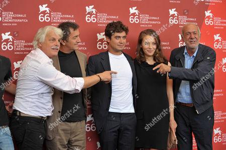 Stock Picture of Michele Placido, Riccardo Scamarcio, Jasmine Trinca, Mario Capanna