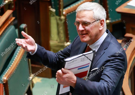 Belgium's Vice-Prime Minister and Minister of Employment, Economy, Consumer Affairs and Equal Chances Kris Peeters arrives at the federal parliament in Brussels, Belgium, 12 December 2018. On 09 December, Belgium's New Flemish Alliance (N-VA) ministers resigned from the government because of the UN migration pact. They were replaced by other members of the government, that does not have the majority in parliament anymore.