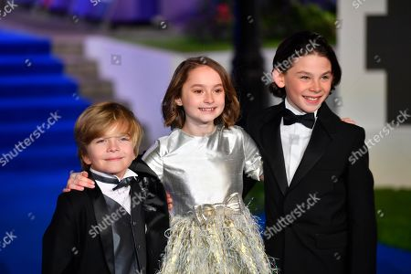 Joel Dawson, Pixie Davies and Nathanael Saleh attend the European premiere of the movie 'Mary Poppins Returns' at The Royal Albert Hall in London, Britain, 12 December 2018. The Disney produced sequel to 1964's Mary Poppins will be released on December 19 in the US and December 21 in the UK.