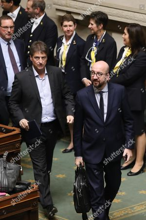 Stock Picture of Olivier Chastel, Charles Michel