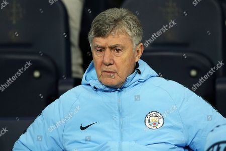 Manchester City legend Brian Kidd during the Champions League Group F match between Manchester City and Hoffenheim at the Etihad Stadium, Manchester