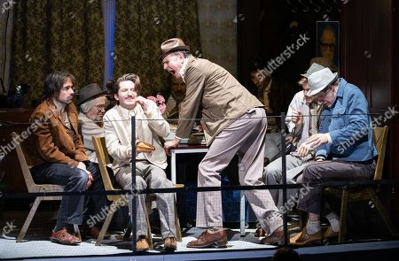 Actors perform during a rehearsal of 'Haussmann'sState Security Theatre' by German theater and film director Leander Haussmann at Volksbuehne theater in Berlin, Germany. The world premiere of the play will be on 14 December.