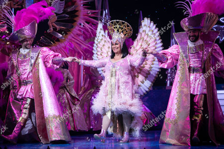 Stock Image of Dawn French (The Wicked Queen) during the curtain call