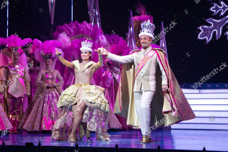 Stock Picture of Flavia Cacace (The Queen) and Vincent Simone (The King) during the curtain call