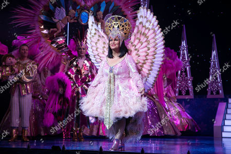 Stock Photo of Dawn French (The Wicked Queen) during the curtain call