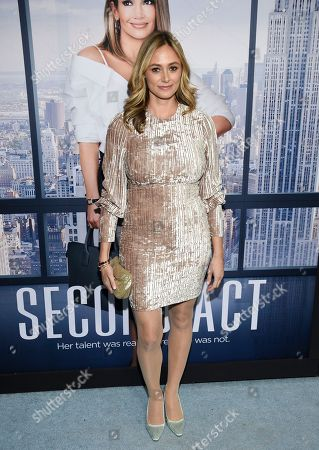 """Elizabeth Masucci attends the world premiere of """"Second Act"""" at Regal Union Square Stadium 14, in New York"""