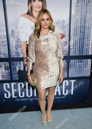 "Stock Photo of Elizabeth Masucci attends the world premiere of ""Second Act"" at Regal Union Square Stadium 14, in New York"