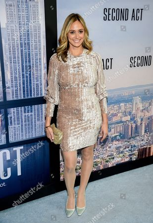 "Elizabeth Masucci attends the world premiere of ""Second Act"" at Regal Union Square Stadium 14, in New York"