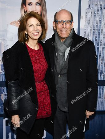 """Stock Photo of Susan Blank, Matt Blank. Showtime chairman Matt Blank and wife Susan Blank attend the world premiere of """"Second Act"""" at Regal Union Square Stadium 14, in New York"""