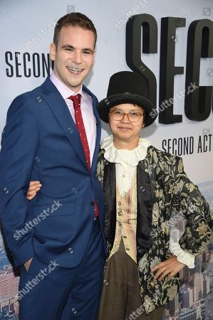 "Alan Aisenberg, Charlyne Yi. Alan Aisenberg, left, and Charlyne Yi attend the world premiere of ""Second Act"" at Regal Union Square Stadium 14, in New York"
