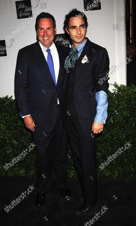 Stock Photo of Steve Sadove, Saks CEO with  Zac Posen
