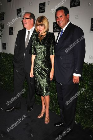 Stock Picture of Ron Frasch  Saks Fifth Avenue vice chairman, Anna Wintour, Stephen Sadove, Saks CEO