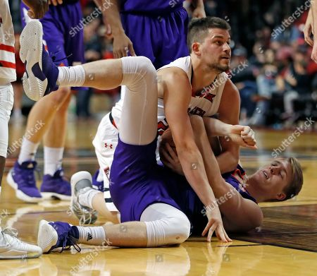Editorial picture of Northwestern St Texas Tech Basketball, Lubbock, USA - 12 Dec 2018