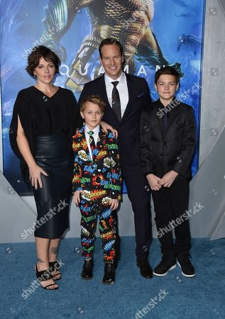 "Dagmara Dominczyk, Kassian McCarrell Wilson, Patrick Wilson, Kalin Patrick Wilson. Dagmara Dominczyk, from left, Kassian McCarrell Wilson, Patrick Wilson, and Kalin Patrick Wilson arrive at the premiere of ""Aquaman"" at TCL Chinese Theatre, in Los Angeles"