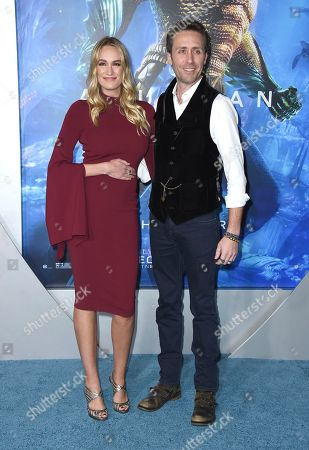 """Ashlan Gorse Cousteau, Philippe Cousteau Jr. Ashlan Gorse Cousteau, left, and Philippe Cousteau Jr. arrive at the premiere of """"Aquaman"""" at TCL Chinese Theatre, in Los Angeles"""