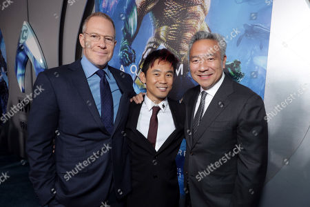 Toby Emmerich, Chairman of Warner Bros. Pictures Group, James Wan, Writer/Director, Kevin Tsujihara, Chairman and Chief Executive Officer of Warner Bros.,